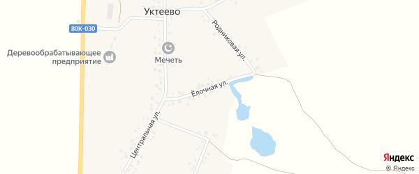 Елочная улица на карте села Уктеево с номерами домов