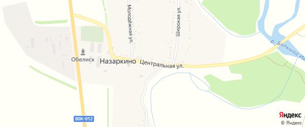 Центральная улица на карте села Назаркино с номерами домов