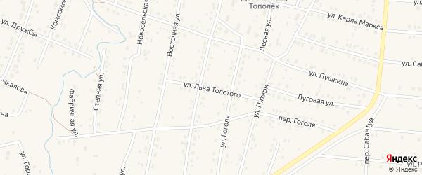 Улица Толстого на карте села Красноусольского с номерами домов