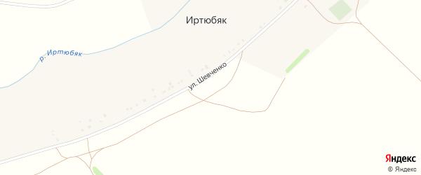 Улица Шевченко на карте деревни Иртюбяка с номерами домов