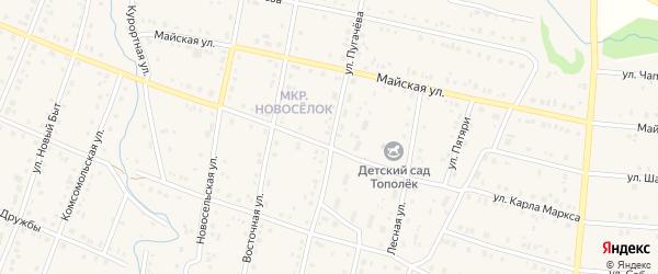 Улица Пугачева на карте села Красноусольского с номерами домов