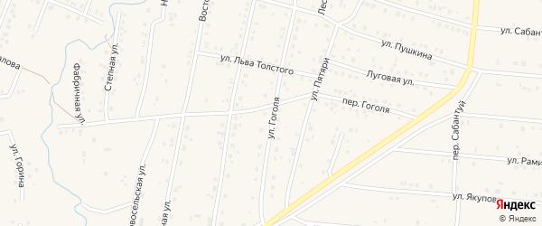 Улица Гоголя на карте села Красноусольского с номерами домов