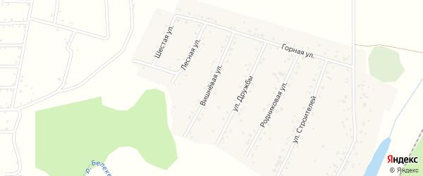 Вишневая улица на карте села Старокубово с номерами домов