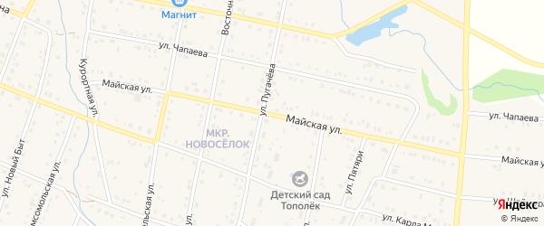 Майская улица на карте села Красноусольского с номерами домов