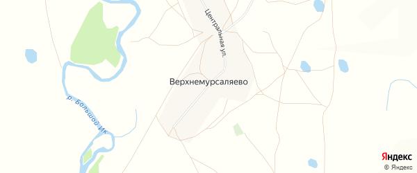 Карта деревни Верхнемурсаляево в Башкортостане с улицами и номерами домов