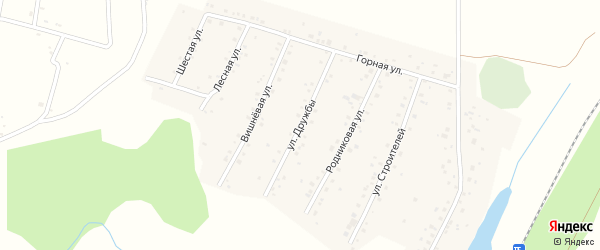 Улица Дружбы на карте села Старокубово с номерами домов