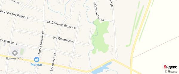 Переулок Тимирязева на карте села Красноусольского с номерами домов