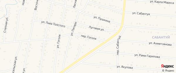 Переулок Гоголя на карте села Красноусольского с номерами домов