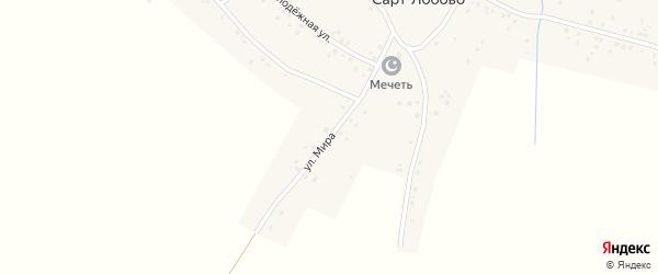 Улица Мира на карте села Сарт-Лобово с номерами домов