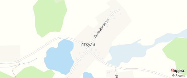 Приозерная улица на карте села Иткули с номерами домов
