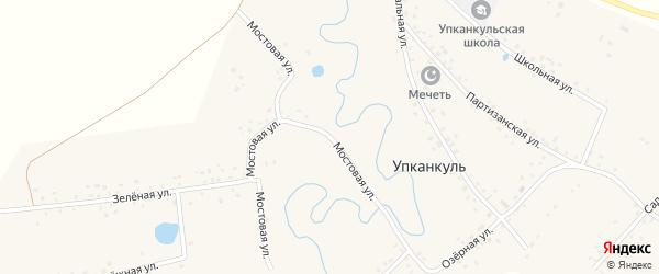 Мостовая улица на карте деревни Упканкуля с номерами домов