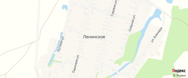 Верхняя улица на карте деревни Ленинского с номерами домов