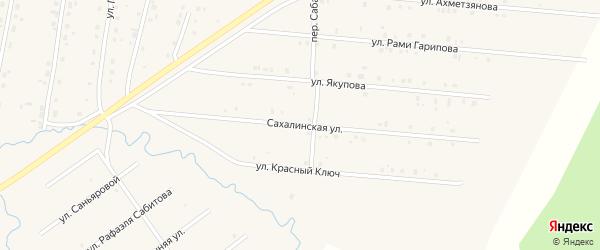 Сахалинская улица на карте села Красноусольского с номерами домов