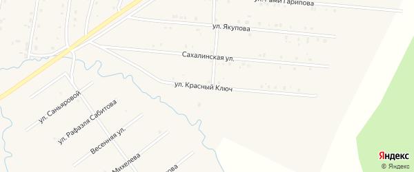 Улица Красный Ключ на карте села Красноусольского с номерами домов
