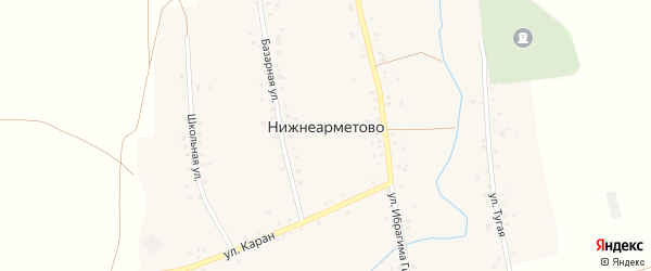 Тугая улица на карте села Нижнеарметово с номерами домов