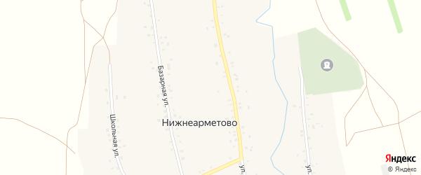 Речная улица на карте села Нижнеарметово с номерами домов