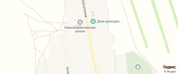 Улица Гиззатуллина на карте села Нижнеарметово с номерами домов