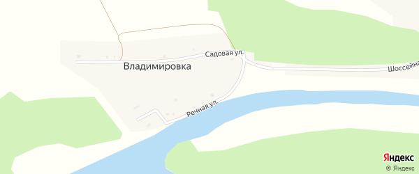 Садовая улица на карте деревни Владимировки с номерами домов