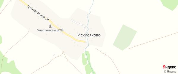 Центральная улица на карте деревни Искисяково с номерами домов