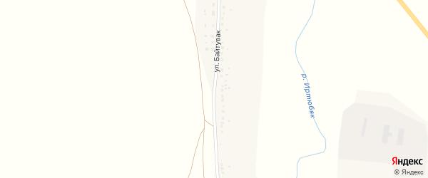 Улица Байтувак на карте деревни Игубаево с номерами домов