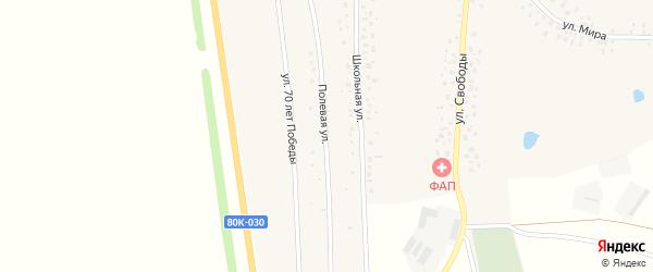 Полевая улица на карте деревни Большетенькашево с номерами домов