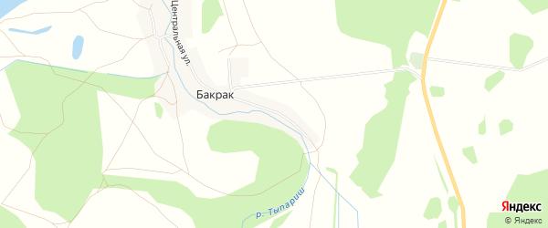 Карта деревни Бакрака в Башкортостане с улицами и номерами домов