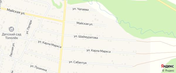 Улица Шаймуратова на карте села Красноусольского с номерами домов