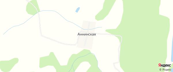 Карта Аннинской деревни в Башкортостане с улицами и номерами домов