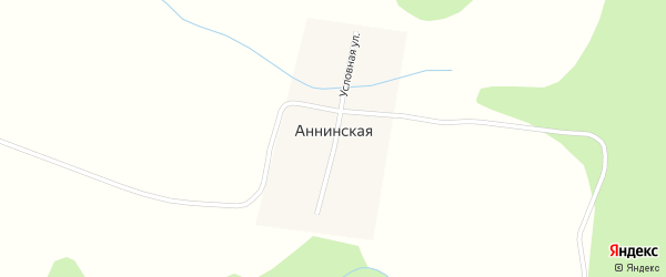 Условная улица на карте Аннинской деревни с номерами домов
