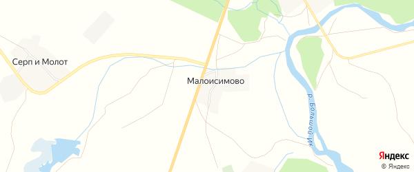Карта деревни Малоисимово в Башкортостане с улицами и номерами домов