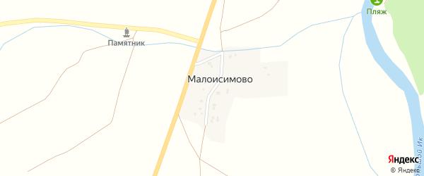 Дорожная улица на карте деревни Малоисимово с номерами домов
