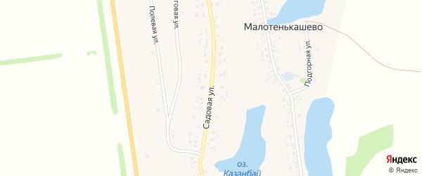 Садовая улица на карте села Байгильдино с номерами домов