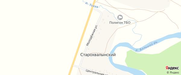 Молодежная улица на карте деревни Мусино с номерами домов