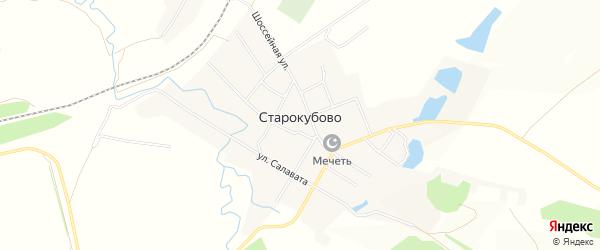 Карта села Старокубово в Башкортостане с улицами и номерами домов