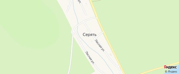 Лесная улица на карте хутора Серяти с номерами домов