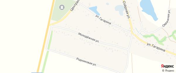 Молодежная улица на карте села Байгильдино с номерами домов