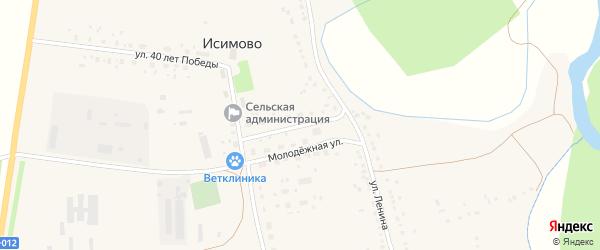 Молодежная улица на карте села Исимово с номерами домов
