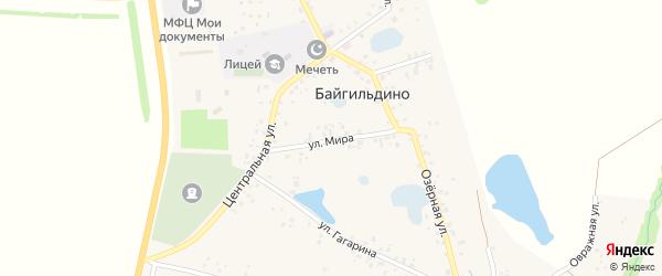 Улица Мира на карте села Байгильдино с номерами домов