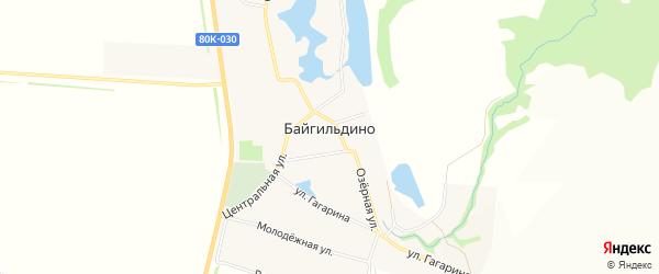 Карта села Байгильдино в Башкортостане с улицами и номерами домов
