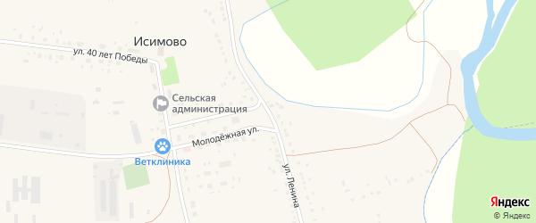 Улица Ленина на карте села Исимово с номерами домов