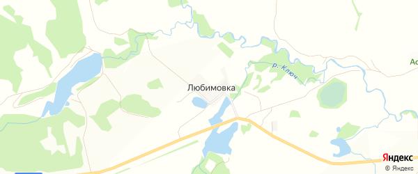 Карта деревни Любимовки в Башкортостане с улицами и номерами домов