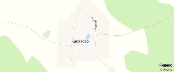 Полевая улица на карте деревни Каюмово с номерами домов