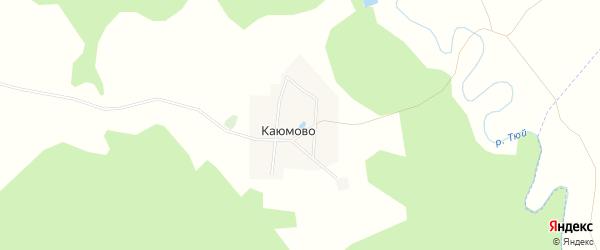 Карта деревни Каюмово в Башкортостане с улицами и номерами домов
