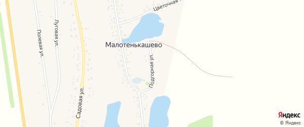 Подгорная улица на карте деревни Малотенькашево с номерами домов