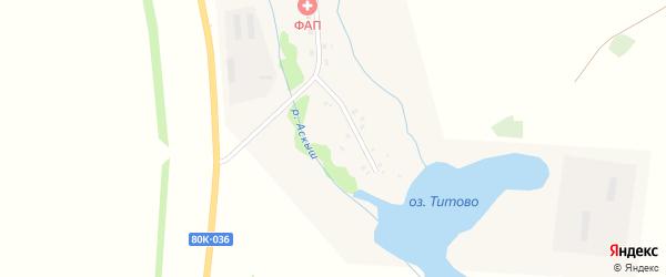 Улица Якутова на карте деревни Евбуляка с номерами домов
