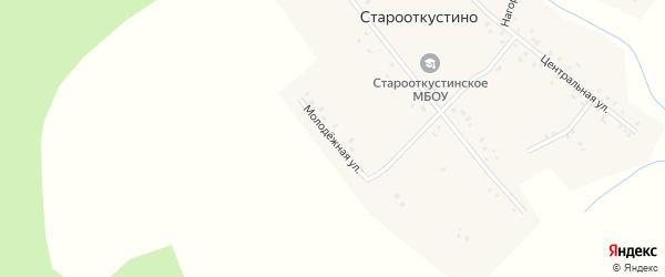 Молодежная улица на карте деревни Старооткустино с номерами домов
