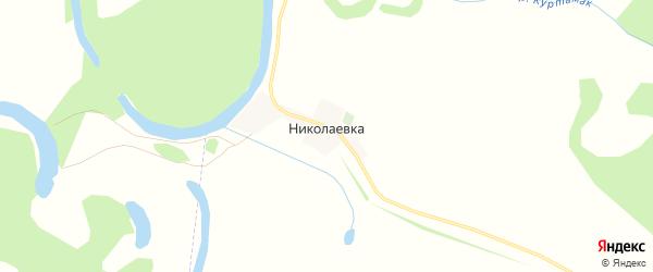 Карта деревни Николаевки в Башкортостане с улицами и номерами домов