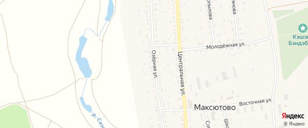Озерная улица на карте деревни Верхнесюрюбаево с номерами домов