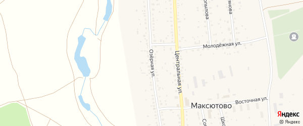 Озерная улица на карте деревни Бикешево с номерами домов