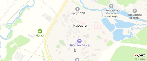 Юбилейная улица на карте села Курорты с номерами домов